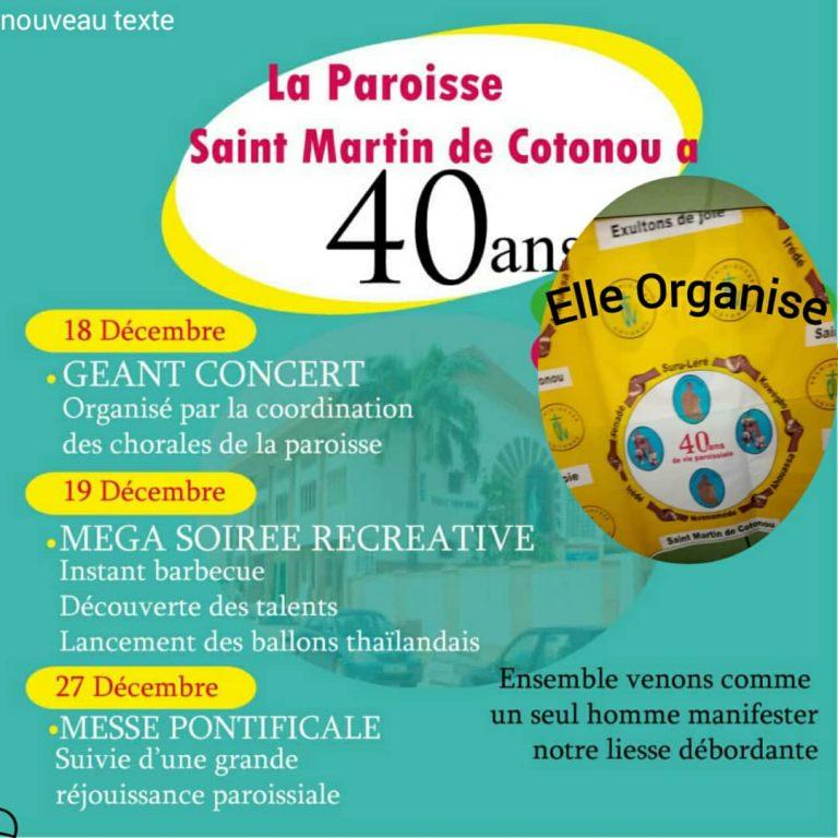 40 ans saint martin Cotonou